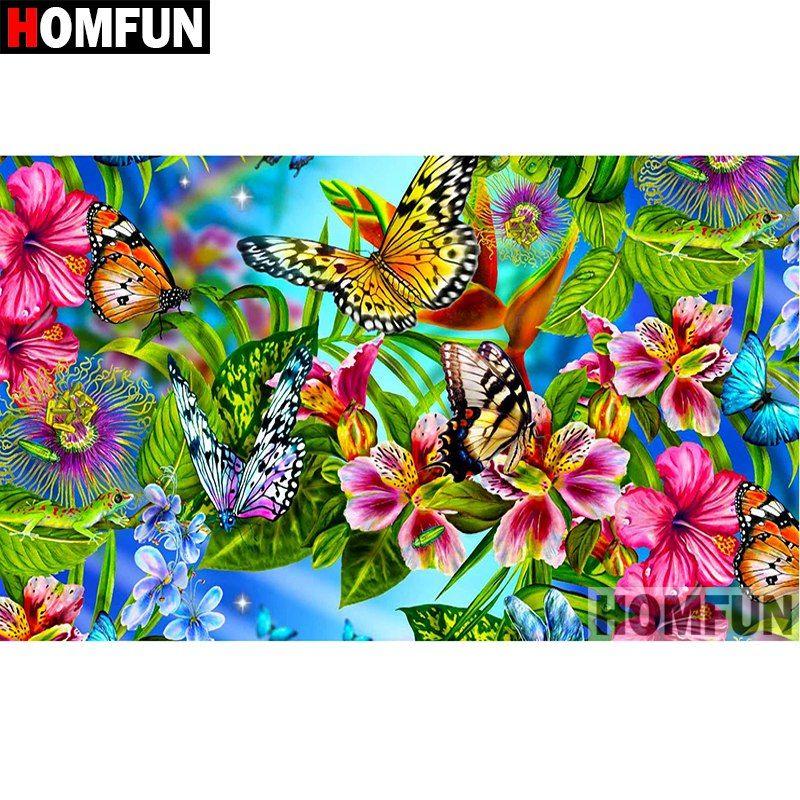 5D Diamond Painting Beautiful Butterflies Kit in 2018 ...