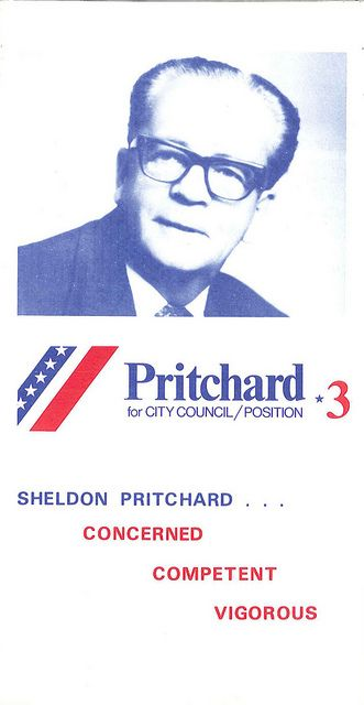 Sheldon Pritchard campaign brochure, 1973 Political campaign - political brochure