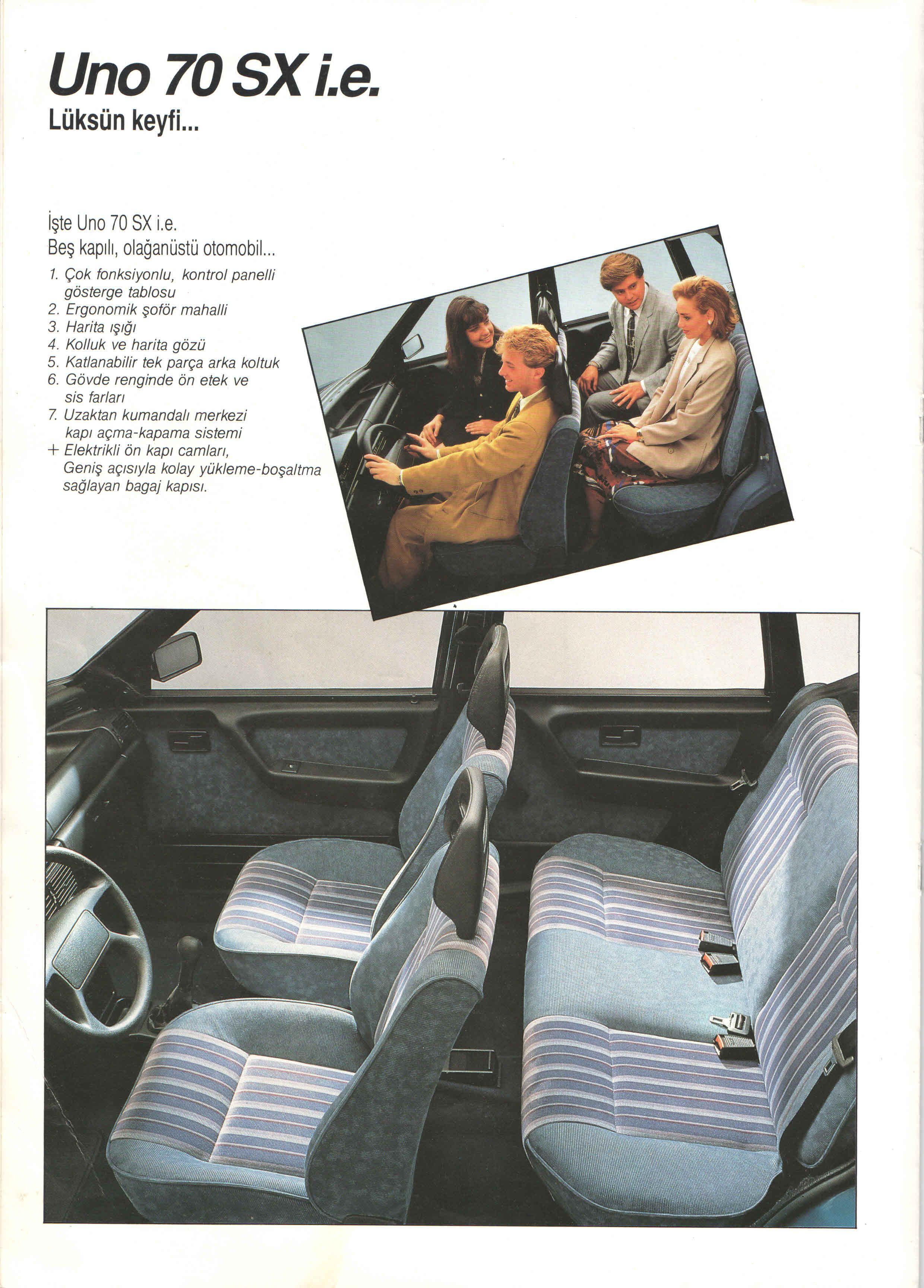 1993 Fiat Uno Turkish Catalog Page 4 8 1993 Fiat Uno Turkce Katalog Sayfa 4 8 Otomobil