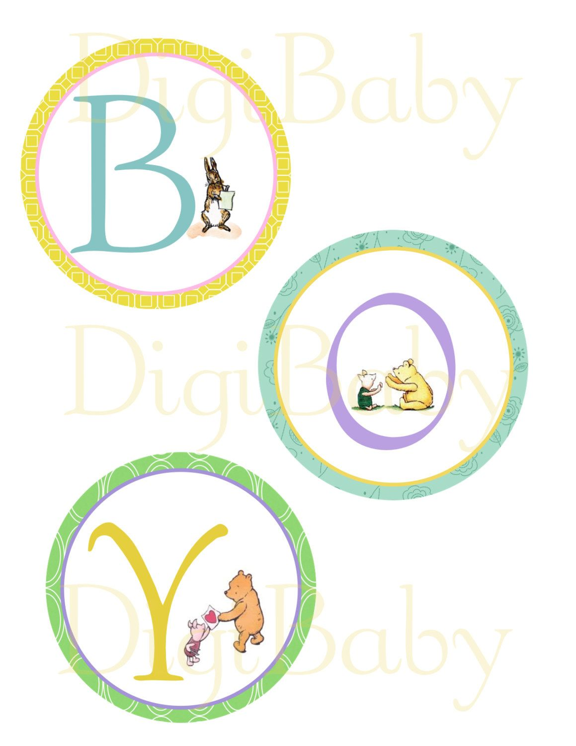 it s a boy winnie the pooh baby shower banner by digibabydesign rh pinterest com Winnie the Pooh and Piglet Clip Art Classic Pooh Clip Art