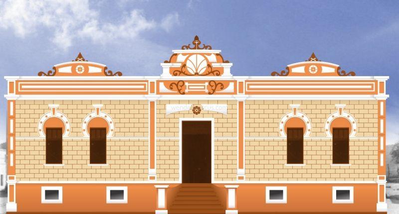 Estudo de cor e desenho para a pintura da Prefeitura Municipal de Florânia-RN