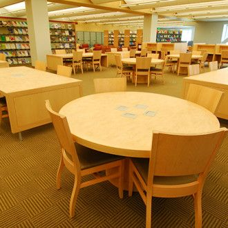 Library Round Dining Study Table