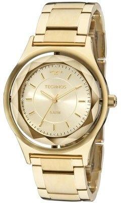 dfb74b032f21e Relógio Technos Feminino Swarovski Elegance Crystal 2035MIC 4X ...