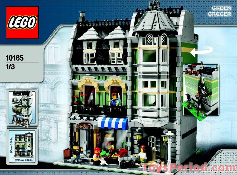 Green Grocer Free Instruction Page 1 Lego Modular Pinterest