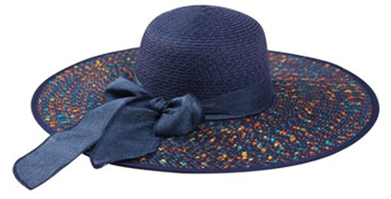 Women Summer Spekel Flap Cover Cap Staw Large Brim Upf 50 Sun Shade Hat Navy Ck17yihtx4n Shade Hats Hats Hats For Women