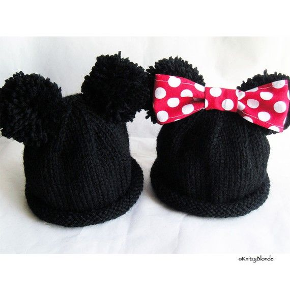 This custom mouse ears hat will be hand knit for your baby, and is ...