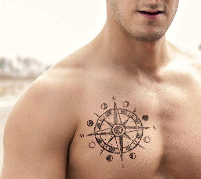 Pin By Karen Nowlin On Tattoos Inspiration Compass Tattoo Star Tattoos Tattoos For Guys