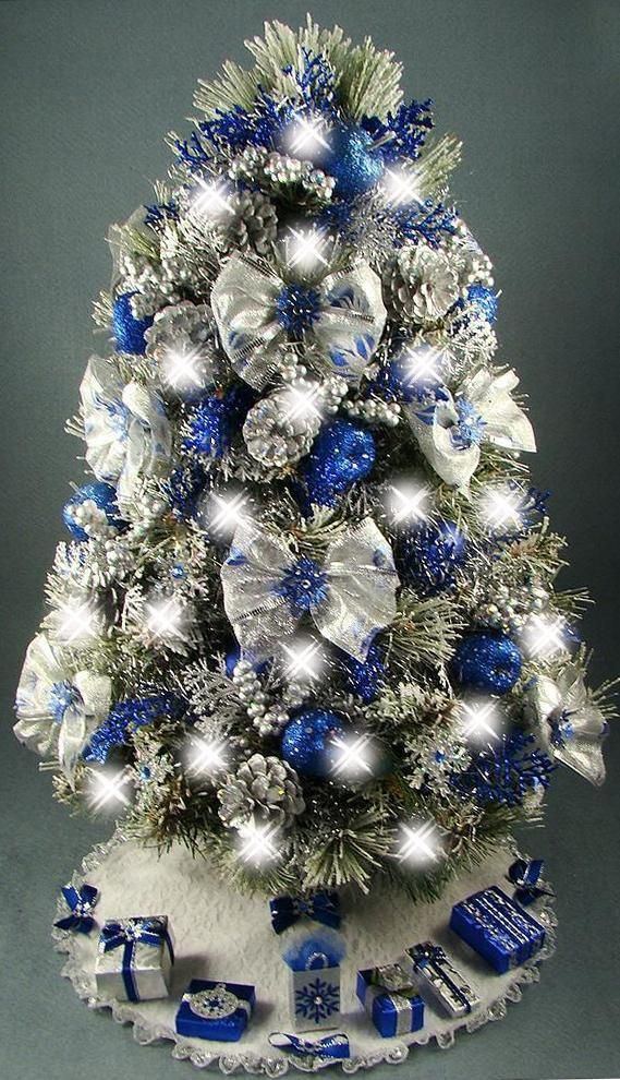 Lovely Royal Blue Christmas Ornaments Part - 10: Christmas Tree