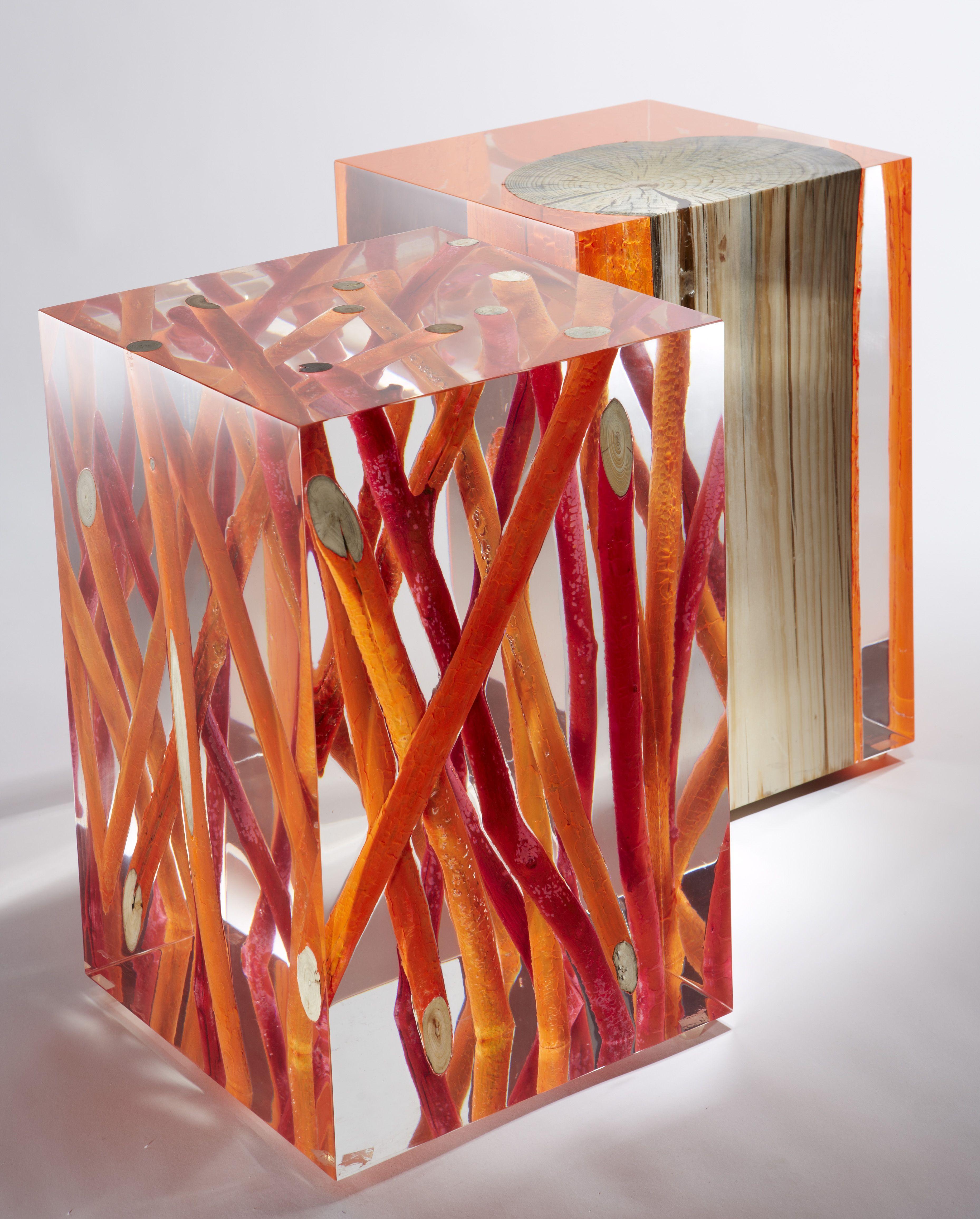 Epoxy Driftwood Table: Fluo Acrylic Glass Blocks - Google Search