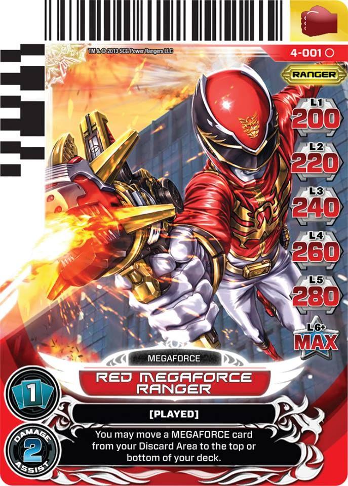 Pin Oleh Erik Johnson Di Super Sentai Power Rangers Kartu