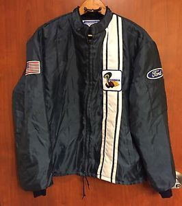 Vintage Ford Cobra Shelby Fleece Lined Jacket Coat Mustang Xl Navy Blue Ebay Jackets Line Jackets Coats Jackets