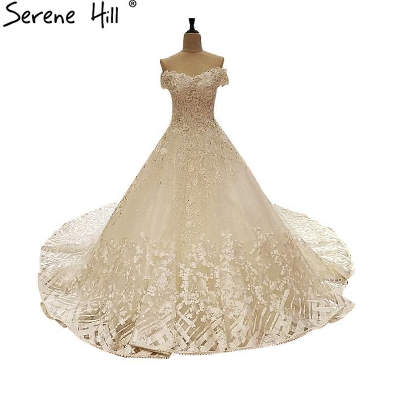 3c5f16d14fa Off Shoulder Sexy Bridal Tulle Wedding Dresses White Sleeveless Diamond  Sequined Bride Wedding Gown Vestido De Noiva 2017 New