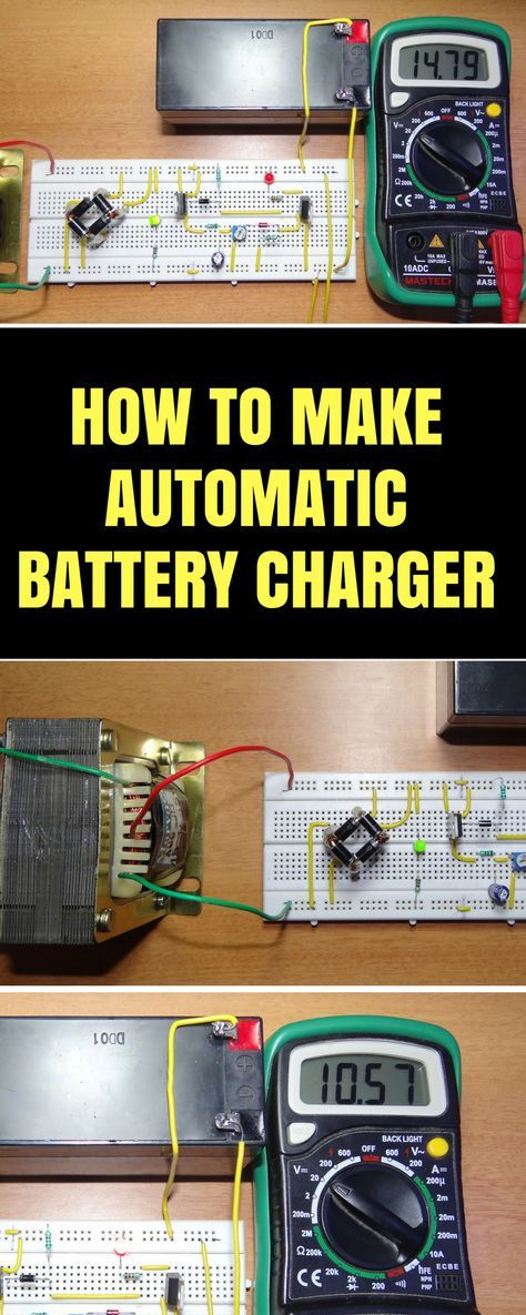 Automatic 12v Portable Battery Charger Circuit using LM317 | Arduino ...