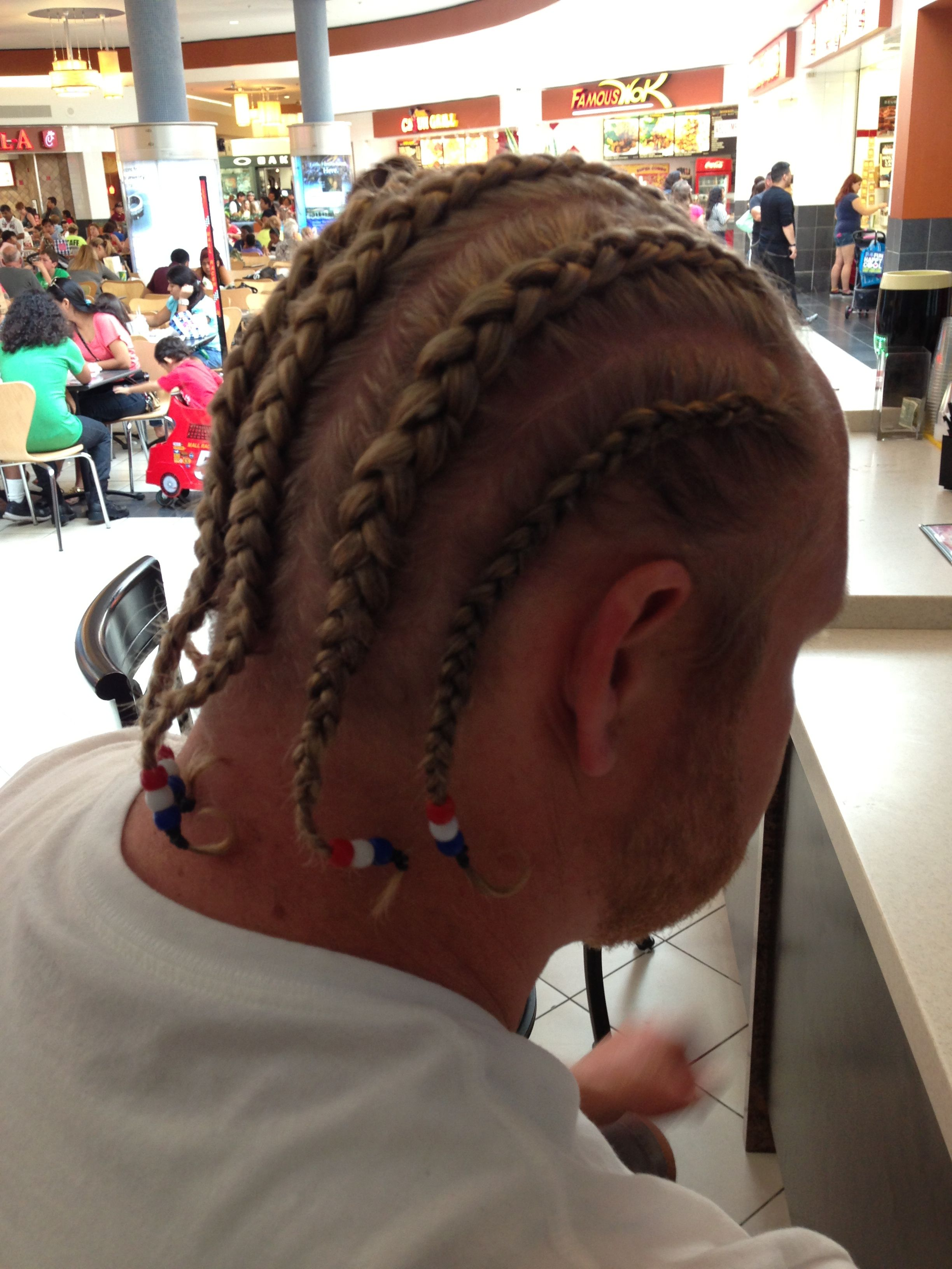 White Boy With Cornrows For Game Day Viking Hair Cornrows For