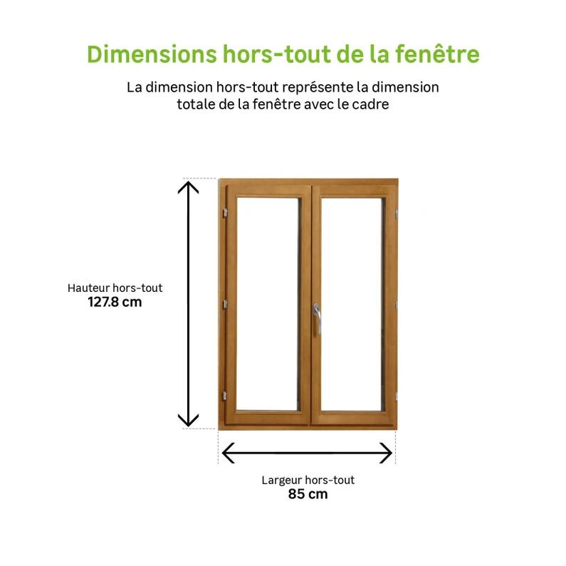 Fenetre Bois H 125 X L 80 Cm Pin 2 Tirant Droit Avec Images Fenetre En Bois Petite Maison Bois Fenetre