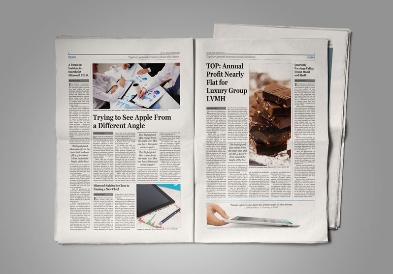 Old Style Newspaper Template Layout  Typography Pinterest