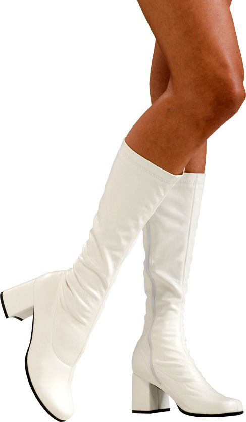 Adult White Go Go Knee Boots - Candy Apple Costumes - Circus Ring ...