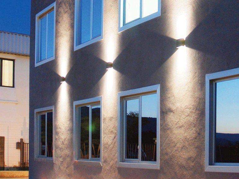Led Aluminium Wall Lamp Cadmo 6 By Flexalighting Outdoor Wall Lamps Facade Lighting House Styles