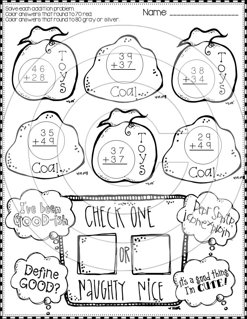 Christmas 2 Digit Addition Worksheets Christmas Math Christmas Worksheets Christmas Addition [ 1056 x 816 Pixel ]