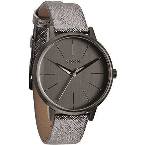 Nixon A1081924 Ladies Kensington Leather Gunmetal Shimmer Watch >>> Want additional info? Click on the image.