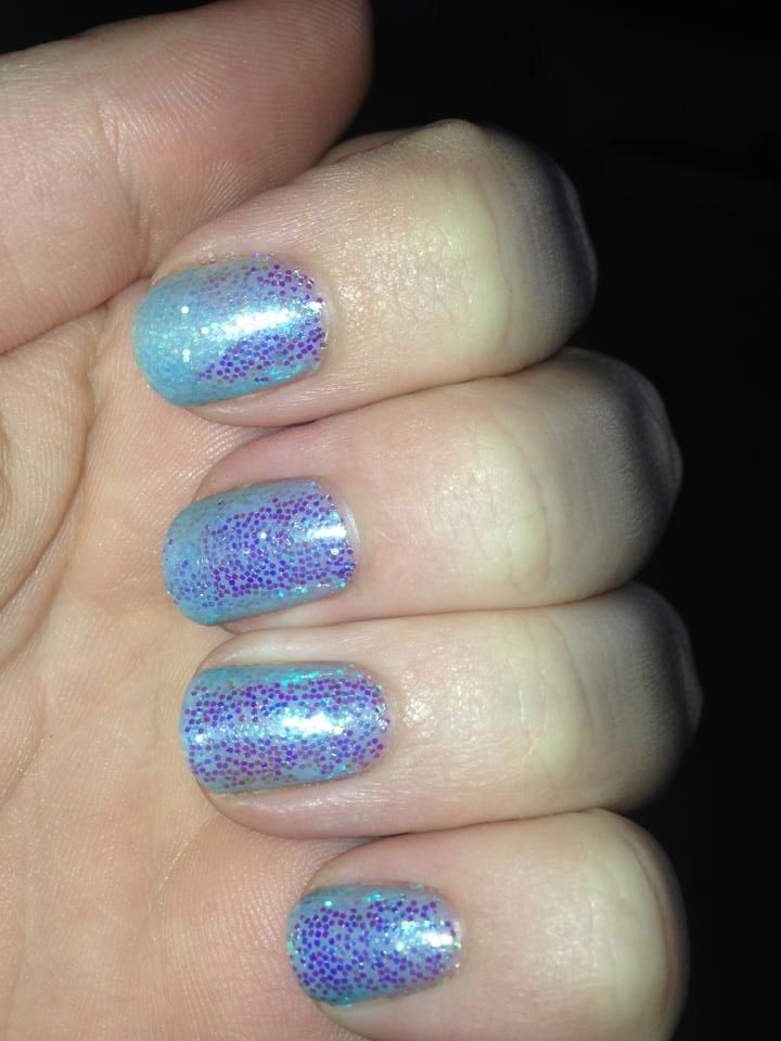 CND Shellac - Blue With Holographic Glitter