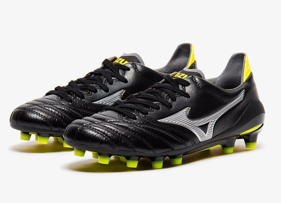 sports shoes 341bc 77175 Mizuno Morelia Neo II Made in Japan FG - Black   Silver   Safety Yellow   Mizuno  MizunoFootball  footballboots