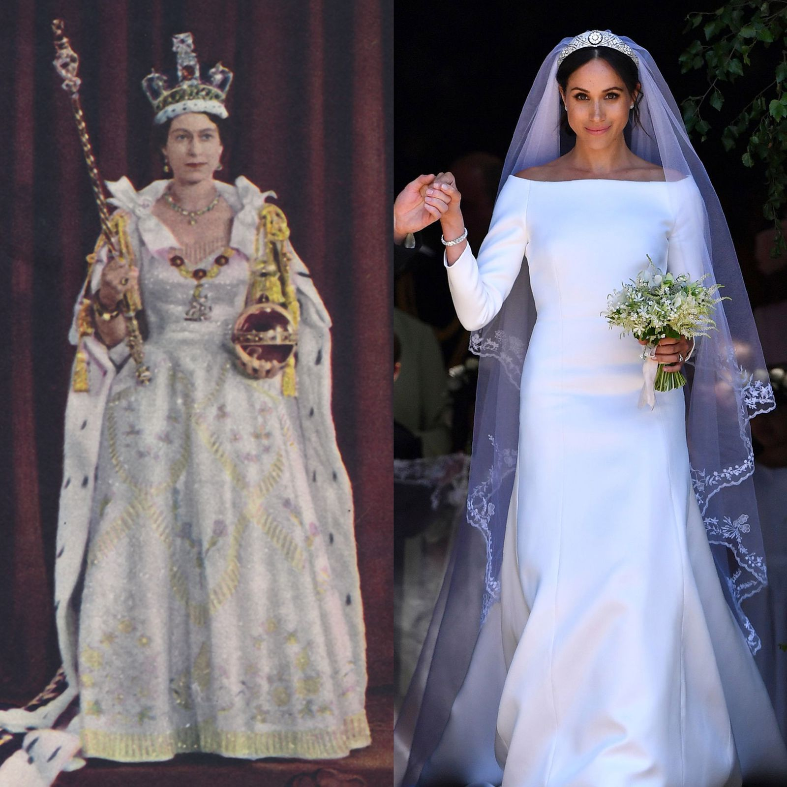 Meghan's Wedding Veil Was Inspired By Queen Elizabeth's