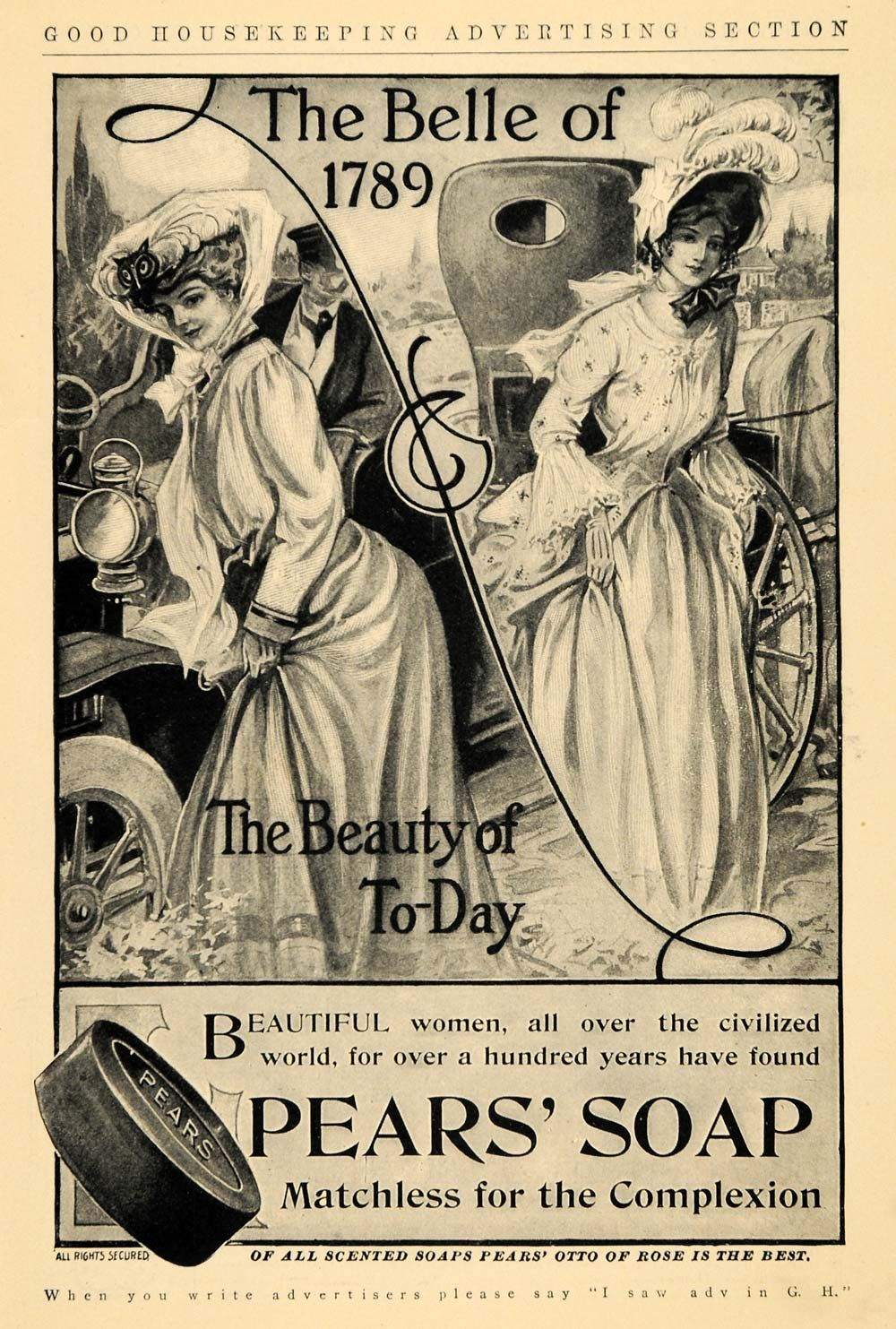 Vintage bathroom ads - Pears Soap Vintage Advert From 1906 We Use Pears Soap