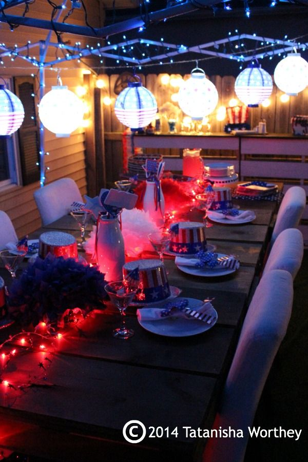 4th Of July Table Decor Ideas Patriotic At Night