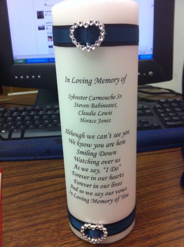 wedding memory candle