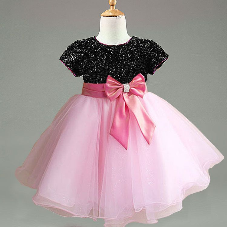 Fancy Children Party Gowns Dress With Bow Kids Girls Tutu Dress 90 ...