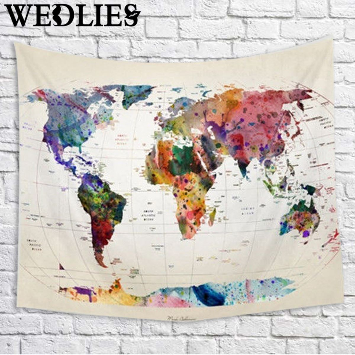 Best price polyester wall hanging world map tapestry indian mandala best price polyester wall hanging world map tapestry indian mandala throw blanket bedspread home dorm gumiabroncs Choice Image