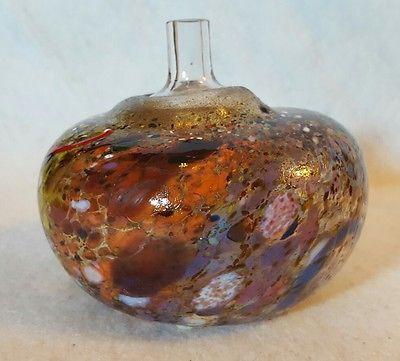 Kosta Boda Atelier Artist Signed B Vallien Multi Color Bud Vase