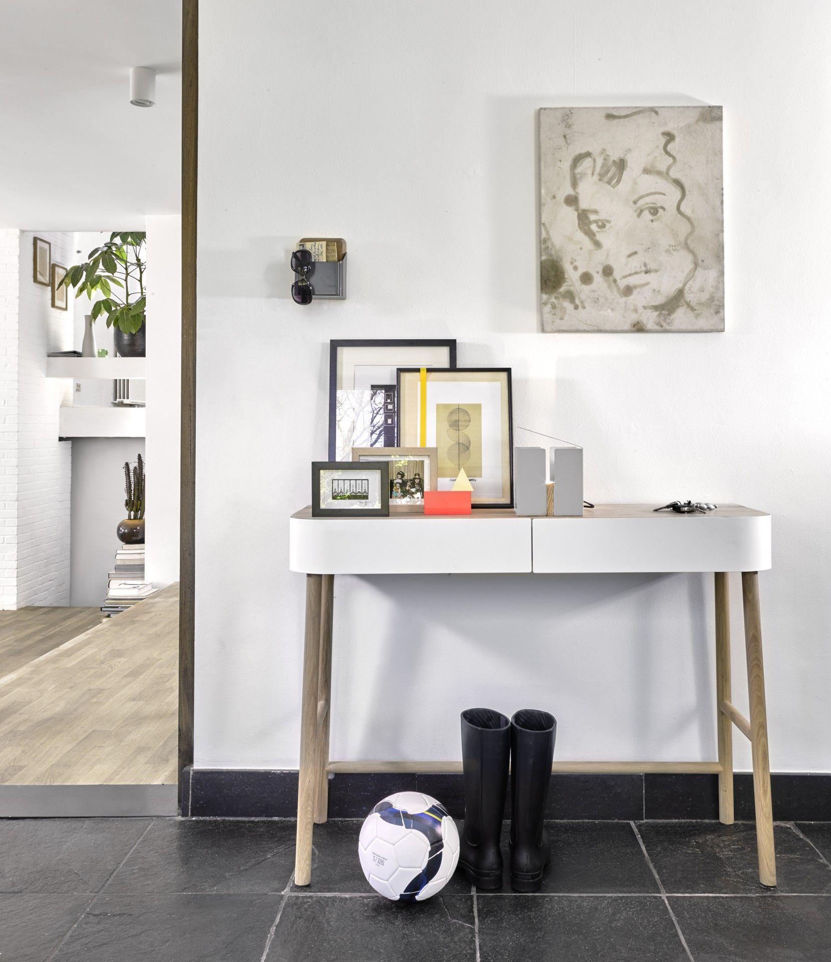 Console Hall Universopositivo Wood Bois Acier Metal White Blanc Design Scandinave Scandinavian Home Console Tiroir Meuble Design Mobilier De Salon