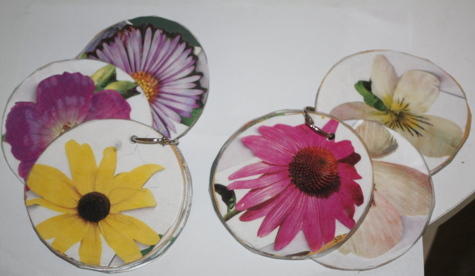 Flower identification disks! Write name of flower and