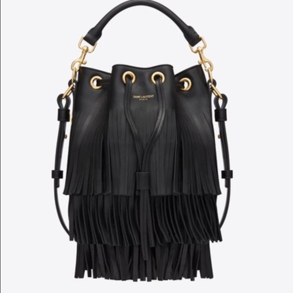d432c58d180a Saint Laurent Emmanuelle Fringe bag Great pre owned condition. Comes with  dust bag. SIGNATURE