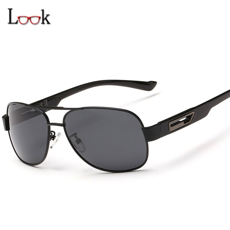 7530eff623 HD High-end Classic Polarized Sunglasses Men Fashion Brand UV400 Goggles  Driving Square Sunglasses For