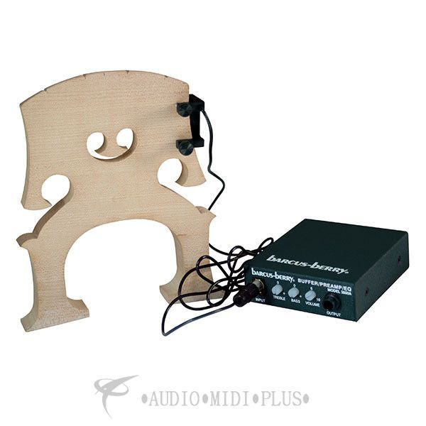Barcus Berry Clamp-On Bridge Bass Piezo Transducer with Preamp - B3150-U