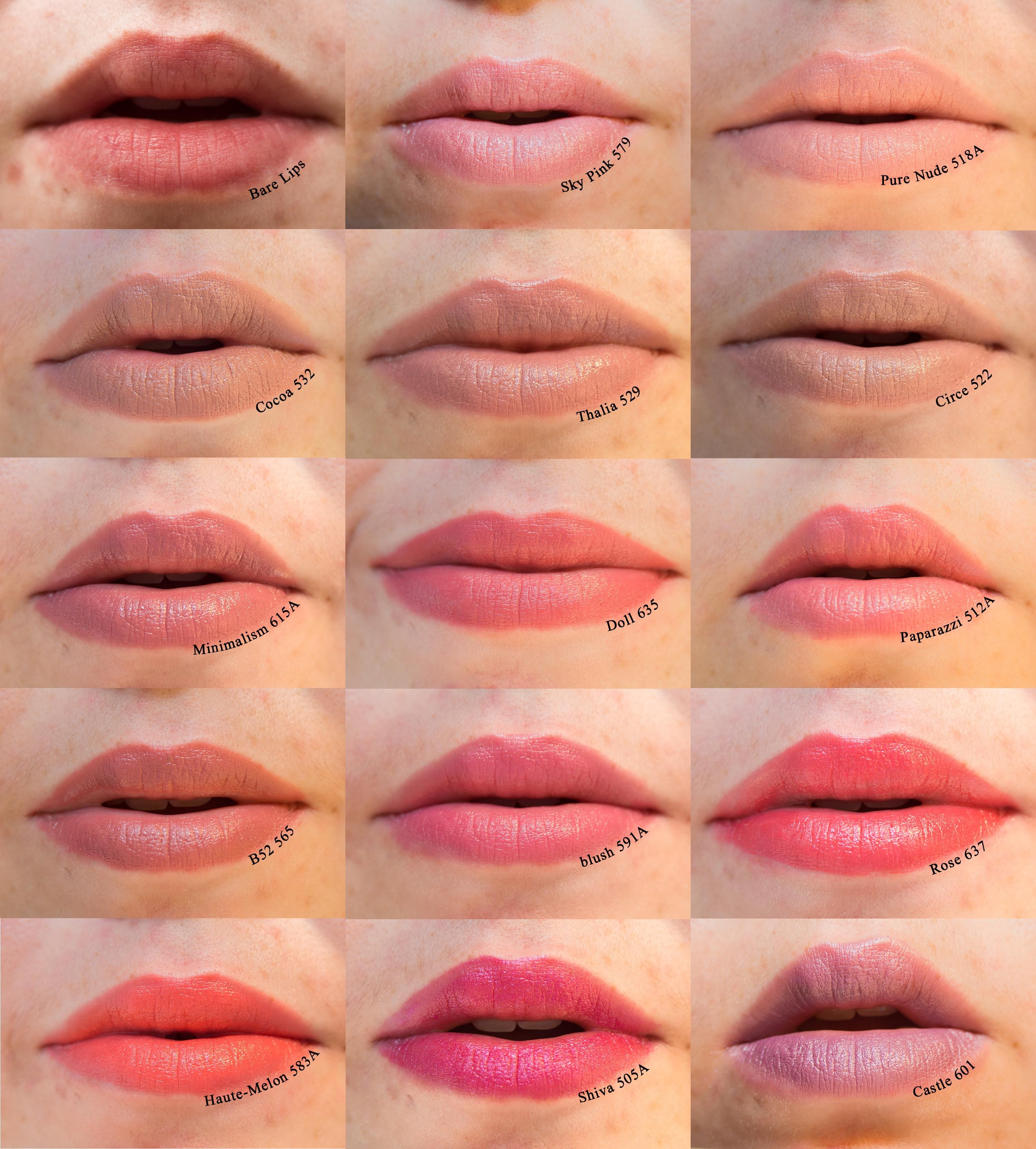 NYX Round Lipstick Swatches   Lipstick swatches, Best