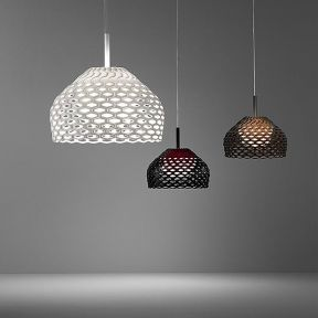 Tatou S1 by FLOS. Designed by the amazing Patricia Urquiola in 2012, the Tatou S2 Suspension Lamp is on its way to becoming as iconic and successful as Urquiola's famous Chasen. This pendant light is a must-have for all lovers of fine design! The Tatou suspension is available in a choice of 3 colours.
