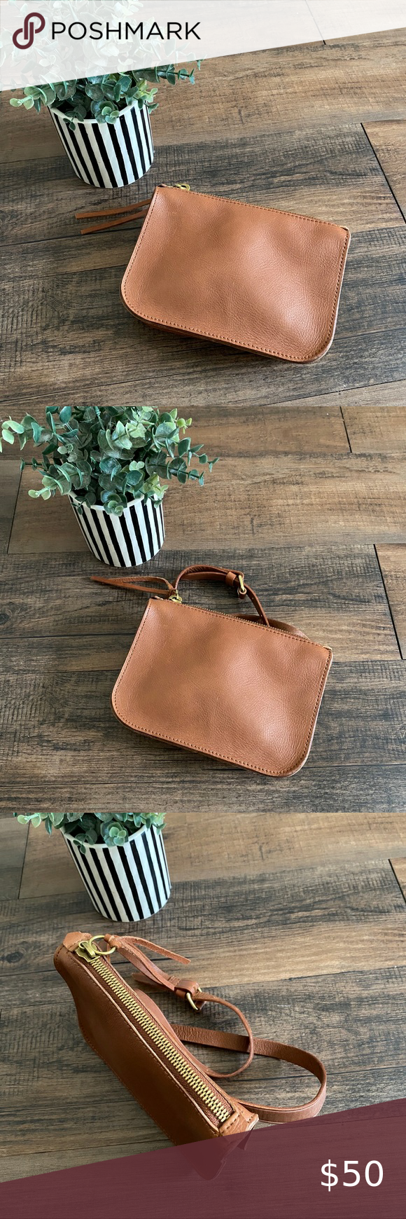 NEW Madewell Medium Simple Pouch Leather Belt Bag in 2020