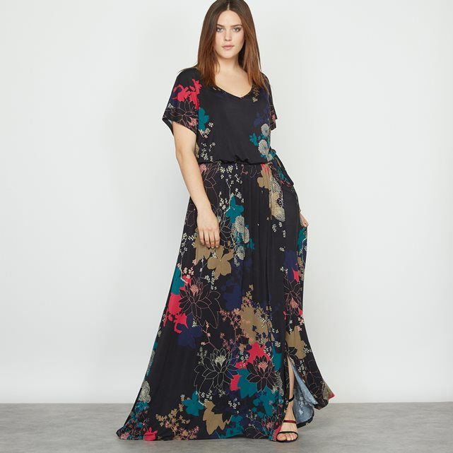 5271606f44b Floral print maxi dress. We love the Japanese style print and superb ...
