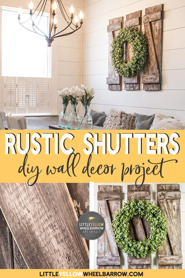How to Build Simple and Inexpensive Decorative Shutters | Empty wall ...