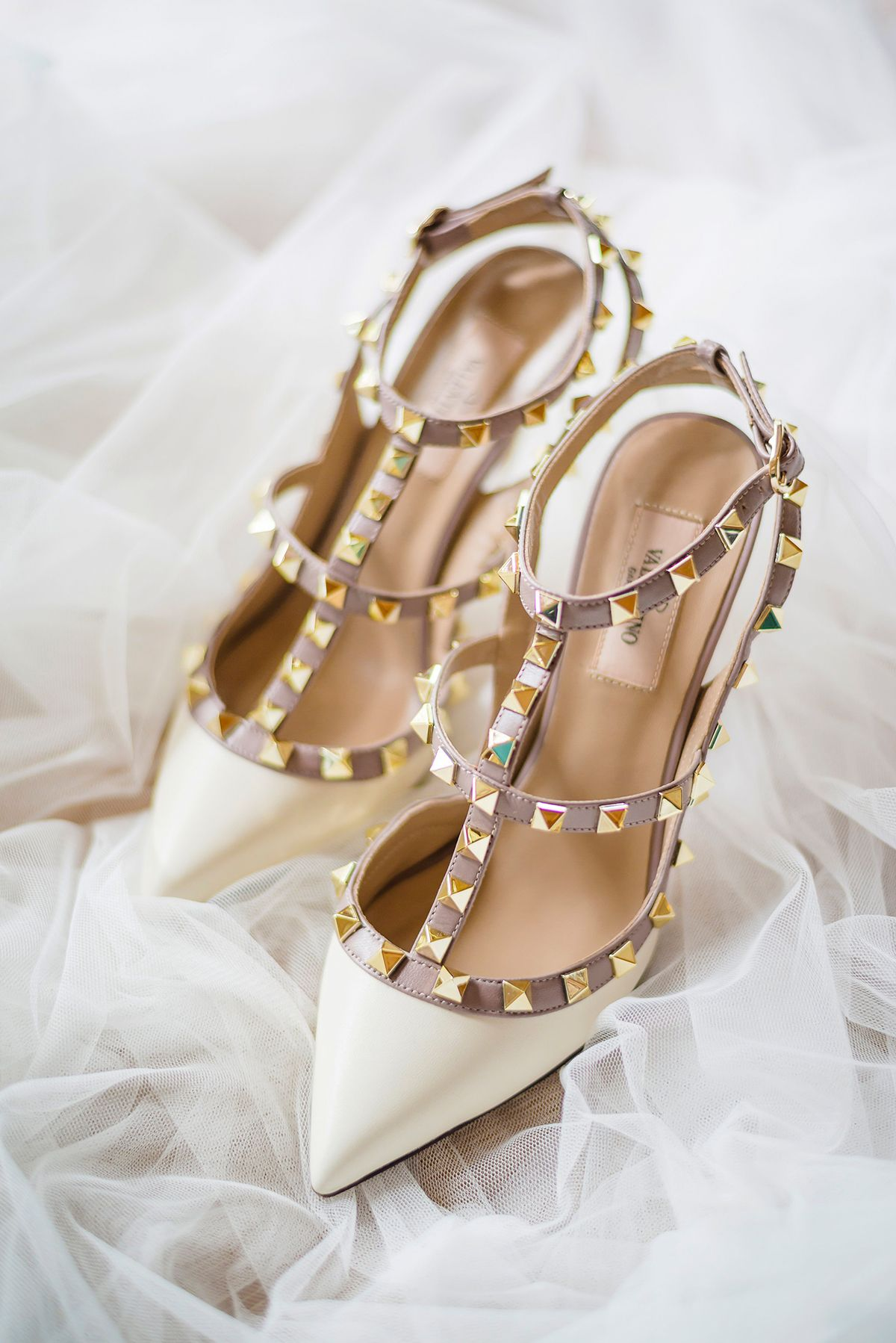 White Valentino Rockstud leather pumps - bridal shoes   Gary and Yanny s  bright, sunflower-filled destination wedding in Phuket, Thailand 3f90c4b3d6e