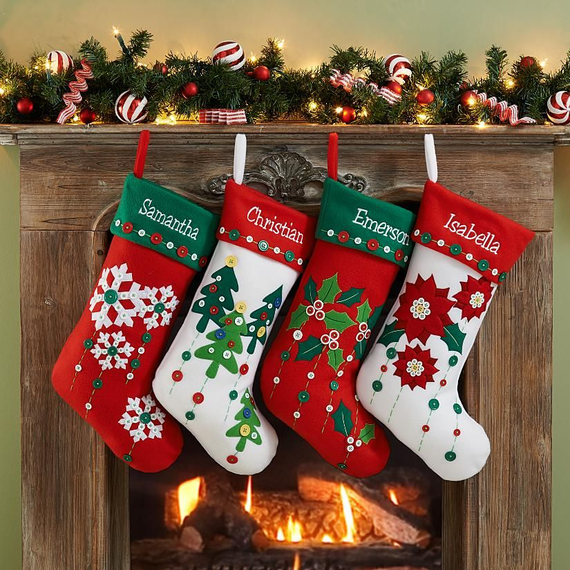 Holiday Button Stocking Holidays, Christmas time and Craft