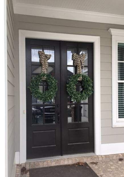 Black Front Door Ideas Entryway Wreaths 53 Ideas