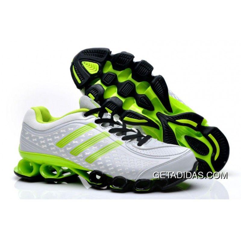Adidas Bounce Titan 9461 Men White Green Running Shoes