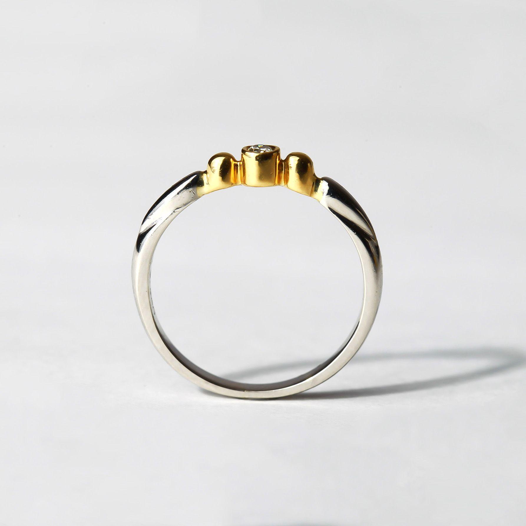 H nao ring k yellow gold white gold diamond jewelry sketch