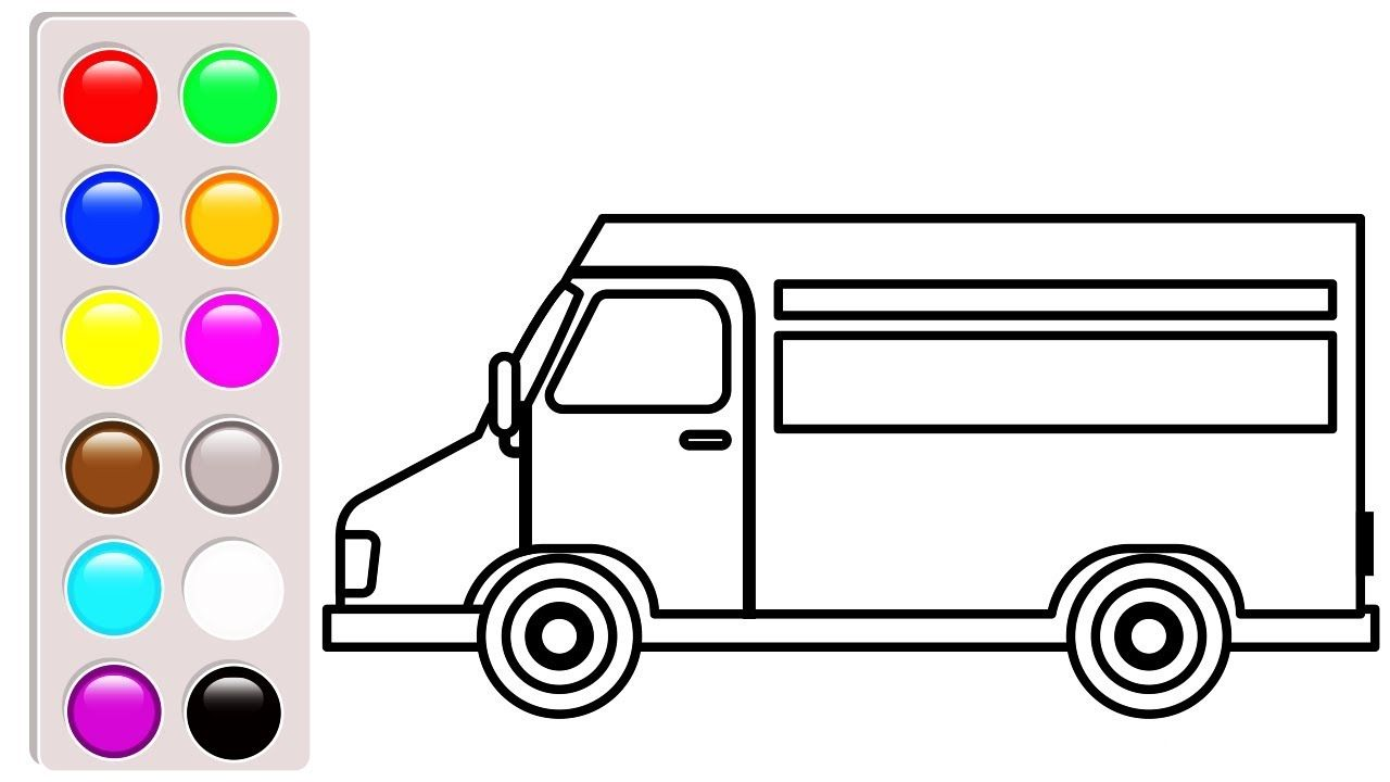 Vehicle Coloring Pages For Kids Delivery Truck Coloring Book