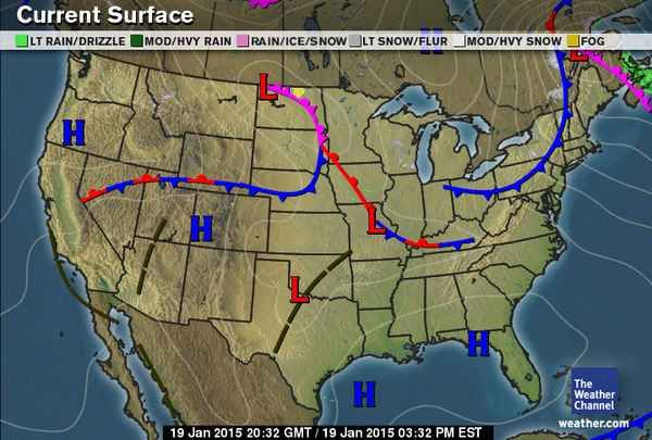 Current Weather Maps Current Weather Maps   weather.| Physical Science | Map
